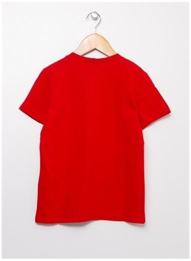 Benetton Benetton 322113096C151T Baskılı Erkek T-Shirt Kırmızı